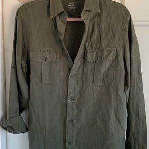 JCREW Irish Linen Shirt By Baird McNutt small